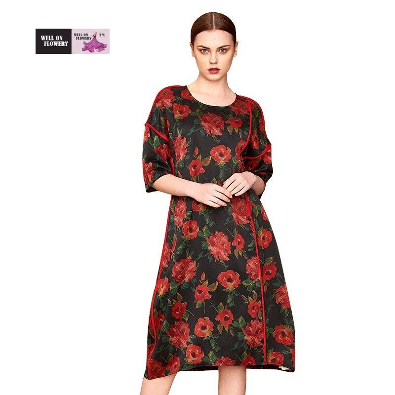 100% шелк (полированная газовая) разноцветное платье в китайском стиле с короткими