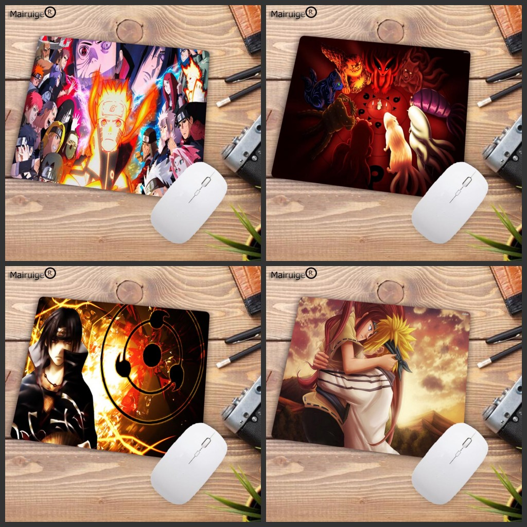Naruto Gaming Mouse Pad Anime Large Computer Pads Dekstop Accessories Cartoon