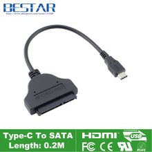 USB 3.1 Type-c3Gbps USB-C To SATA SATAII Converter Adapter Cable 20cm OTG for 2.5 inch Hard disk driver SSD HDD 2.5″ SATA