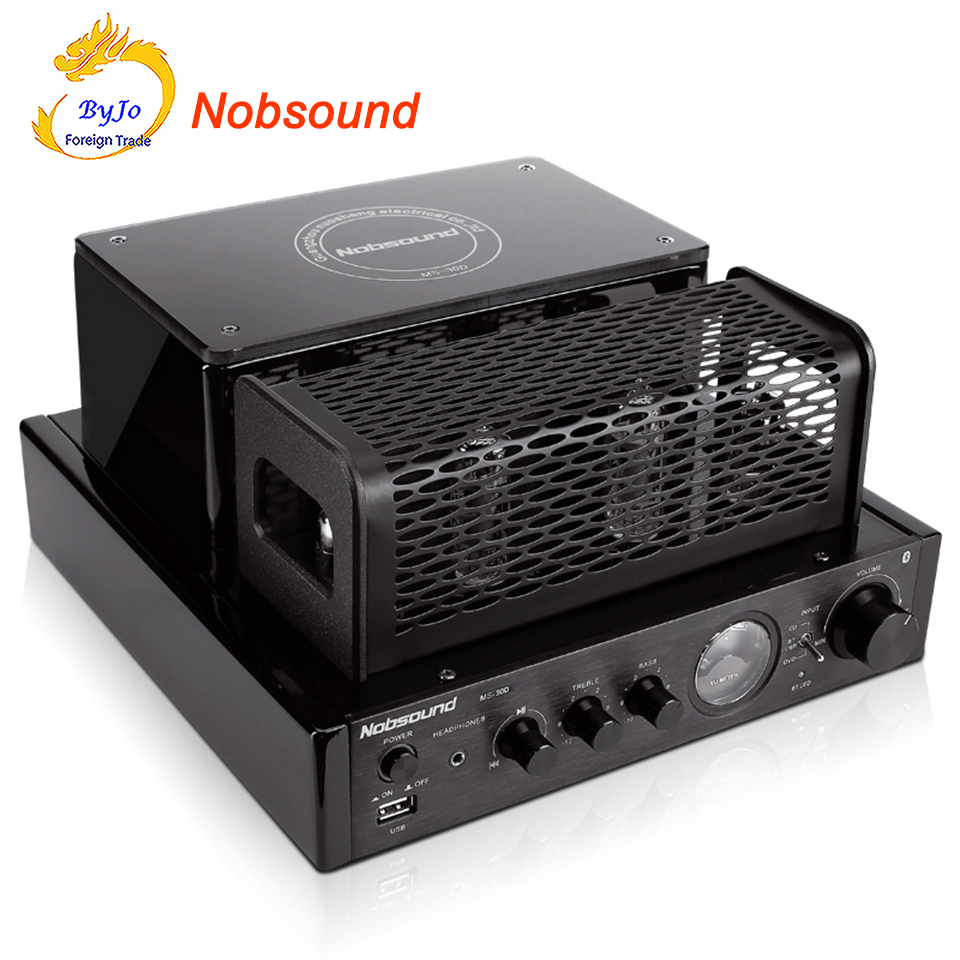 New Nobsound MS-30D hifi bluetooth tube Amplifier 25W+25W 110V 220V Support Usb Power amplifier MS-10D MKII upgrade радиоприемник 25 hifi 25w