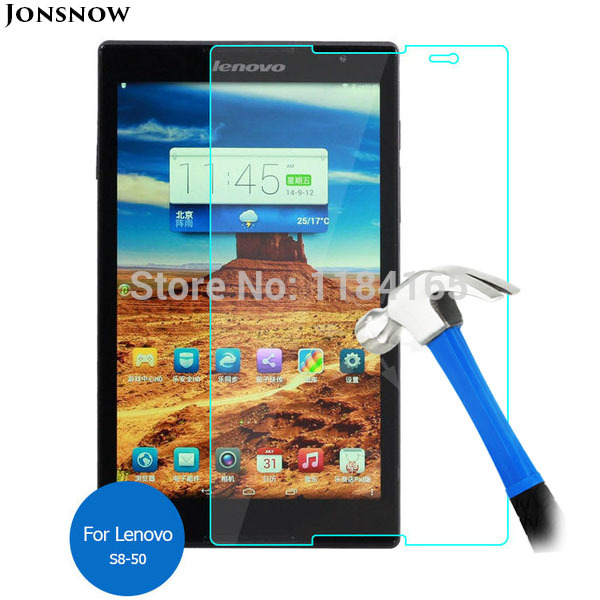 9H Tempered Glass For Lenovo Tab S8 S8-50 S8-50L S8-50F S8-50LC 8inch Prevent Scratch Tablet PC LCD Screen Protector JONSNOW