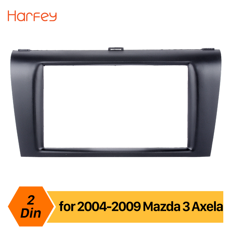 Harfey Car Radio Fascia Panel For Mazda 3 Axela 2DIN Trim Installation Dashboard Kit Dash DVD