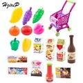 Nuevo toys carros de supermercado de frutas vegetales de corte de alimentos de cocina de plástico niños pretend play toys seguridad de los juguetes educativos para los niños