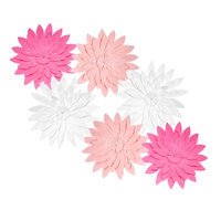 HAOCHU Sweet Pink Paper Flower Wedding Decorations Hanging Flowers Party Kid Birthday Baby Shower Favor Girl