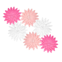 Haochu dulce Rosa Flor de Papel Decoración flores colgantes party Kid cumpleaños baby shower favor niña sala de pared suministros