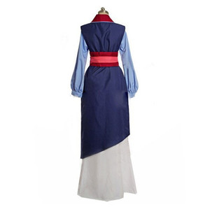 Image 4 - Hua mulan cosplay dress mulan princess dress high quality mulan princess costume for adult women blue mulan cosplay