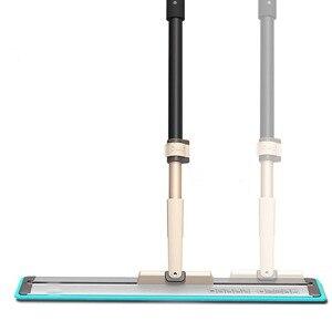 """Image 1 - Commerciale In Microfibra Piano Mop 20 """"Pavimento di Legno Cleaner con Piastra In Alluminio e 2 Durevole Panni Regolabile Testa di 360 Orientabile"""