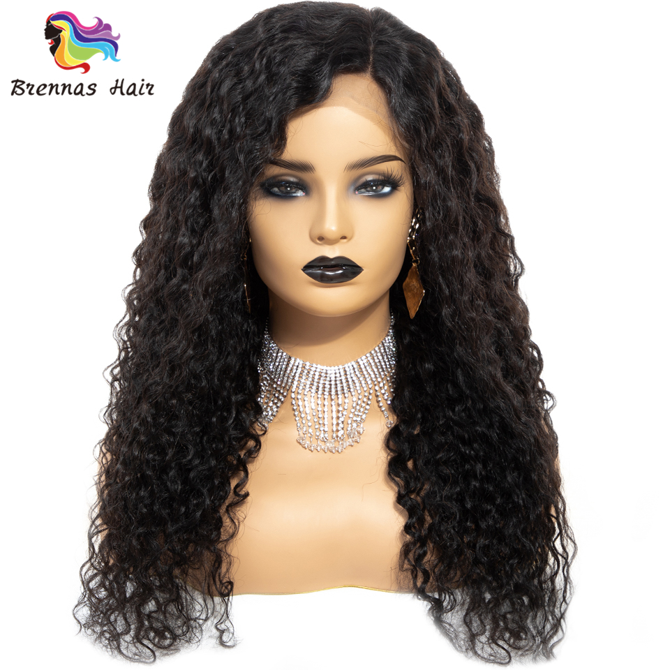 Jerry curly lace wig with baby hair side part glueless lace front human hair wigs bleached