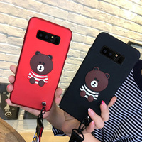 2pcs For Samsung Galaxy note 8 N9500 N950F case cover Fashion cartoon bear soft Case For note8 N950F phone case back cover
