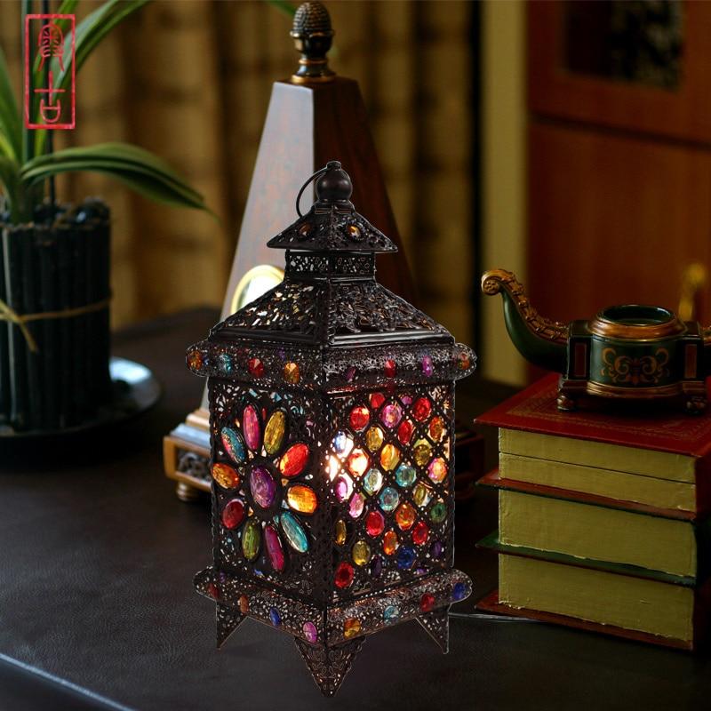 Bohemian style Fashion rustic style table lamp lantern lamps ...