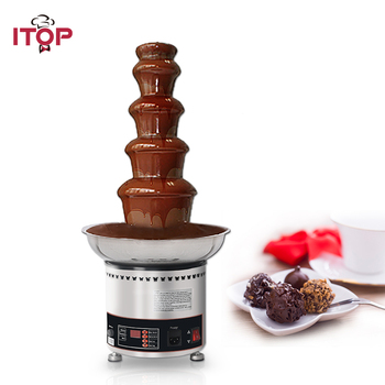 ITOP Commercial Electric Chocolate Fountain Machine , 4/5/6/7 Tiers Automatical Chocolate Melter Warmer For Party Wedding цена 2017