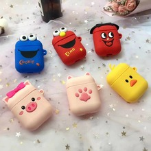 Cartoon Wireless Bluetooth Earphone Case For Apple AirPods Silicone Charging Headphones Cases Airpods Protective Cover