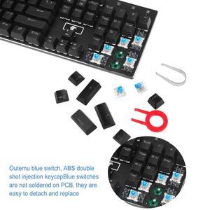 Image 2 - Teclado mecânico do jogo do e element Z 88 rgb, rgb programável retroiluminado, interruptor azul tátil & clicky, chave 104 resistente à água