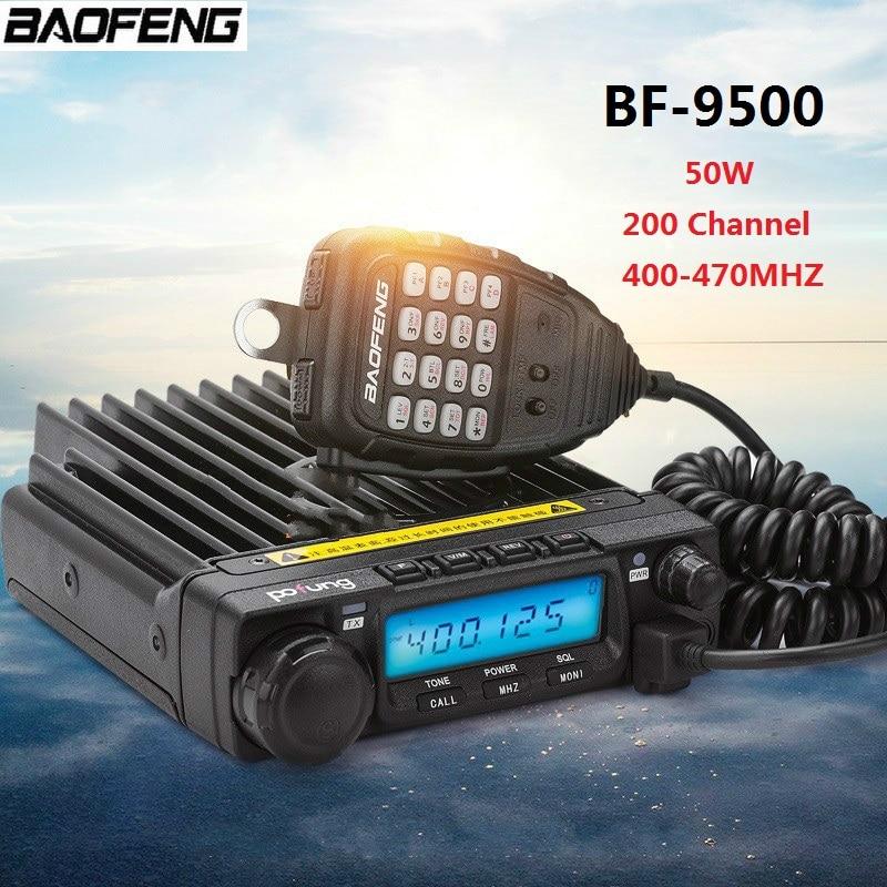 100% D'origine BAOFENG BF-9500 200 Canaux Voiture Talkie Walkie 50 km Voiture Radio Station 50 w 400-470 mhz communicateur Émetteur