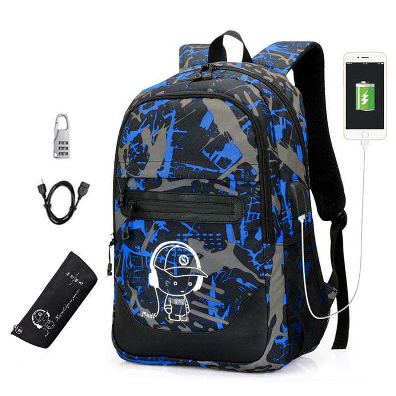 Hot Anti-thief Luminous Kids Backpack Boys Children School Bags for Teenage Printing Backpack For Girls School Student Book Bag twenty one pilots backpack for teenage boys girls student school bags children daily bag hip hop backpack with pencil bag