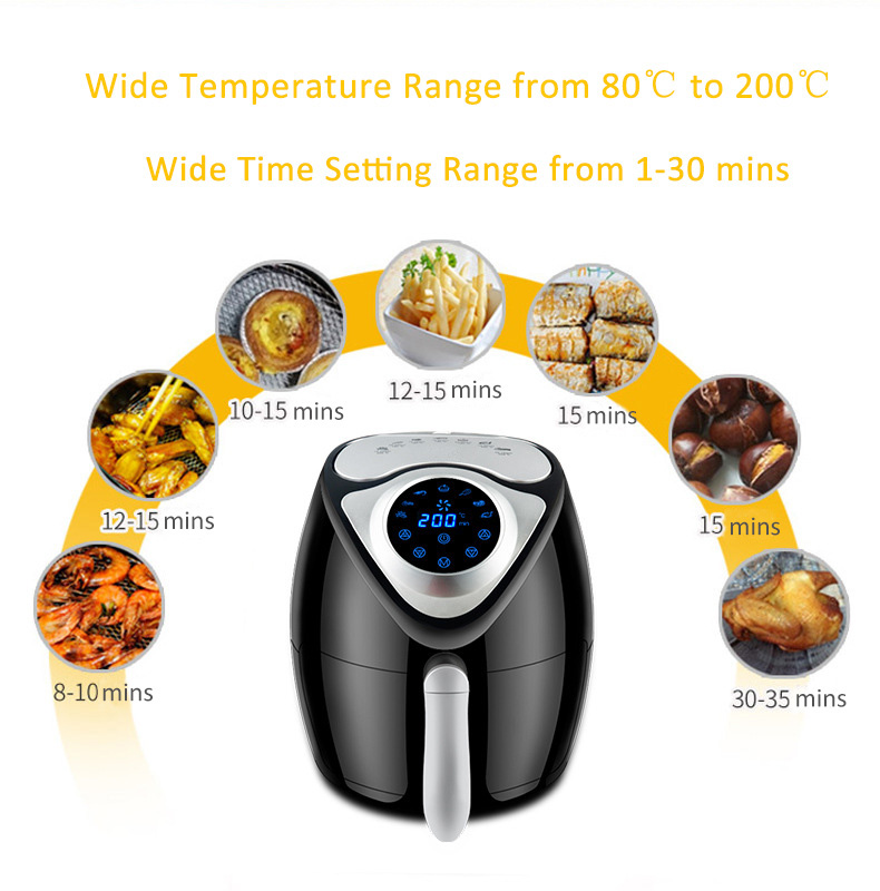 8-in-1 Electric Air Fryer Intelligent Electric Fryers Preset Program Digital Touchscreen Auto Shut off & Timer Controller (6)