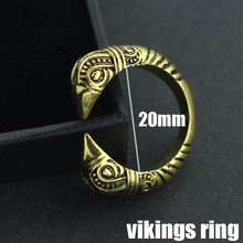 Vikings UNISEX Rings Amulet Wolf Head