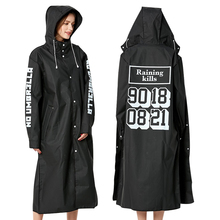 Yuding One Women/men Raincoat Cool Black Outside Rainwear Rain Coat For Men Long Jackets Tour Poncho Waterproof