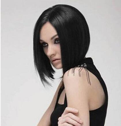 new Women Short Black Brown Bob Style Wigs Cosplay Synthetic Anime Full Wigs