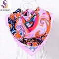 Марка Сердца Дизайн Дамы Платок Новая Мода Аксессуары Розовый Фиолетовый Саржевого Большой Площади Шарф Весна Мусульманский Платок