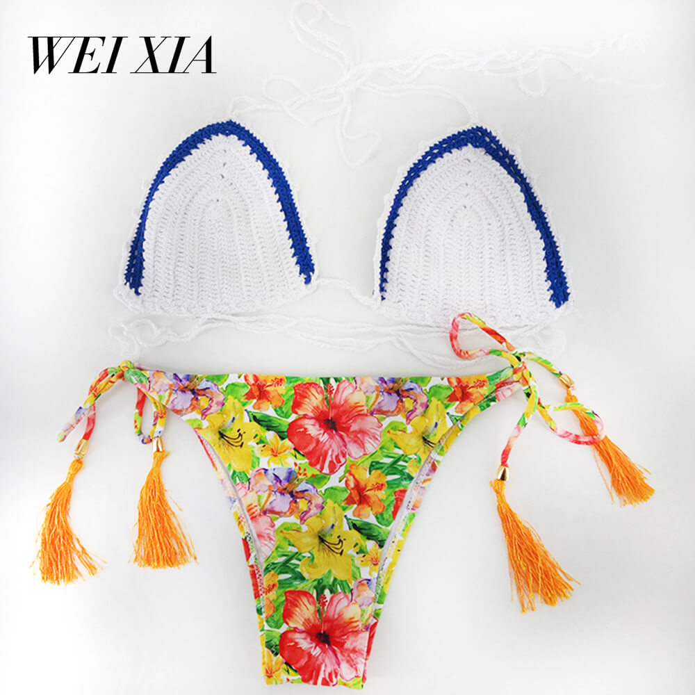 WEIXIA 2018 Latest Luxurious Summer Low Waist z011 Swimsuit Lovely Girl Super Sexy Bathing Suits Women Black Sexy Swim Wear