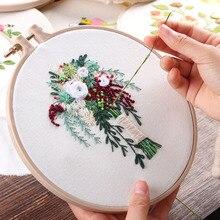 Европа DIY лента цветы вышивка набор с рамкой для начинающих Рукоделие наборы крестиком серии принадлежности для шитья Декор