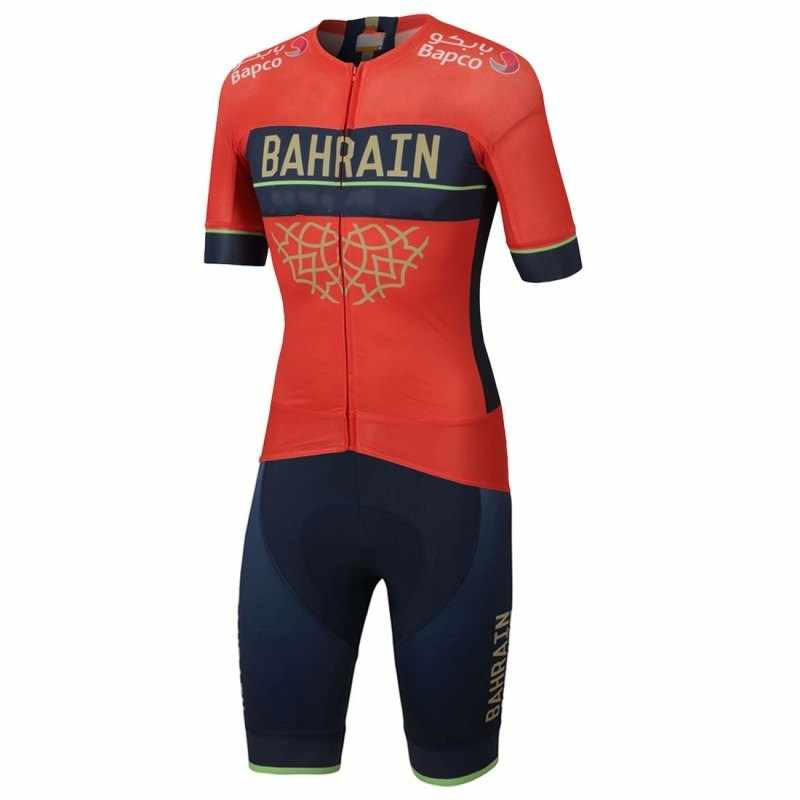 2018 new pro team bahrain aero Cycling skinsuit Short sleeve summer  bodysuit bike clothing MTB Ropa 2aeb5ff81