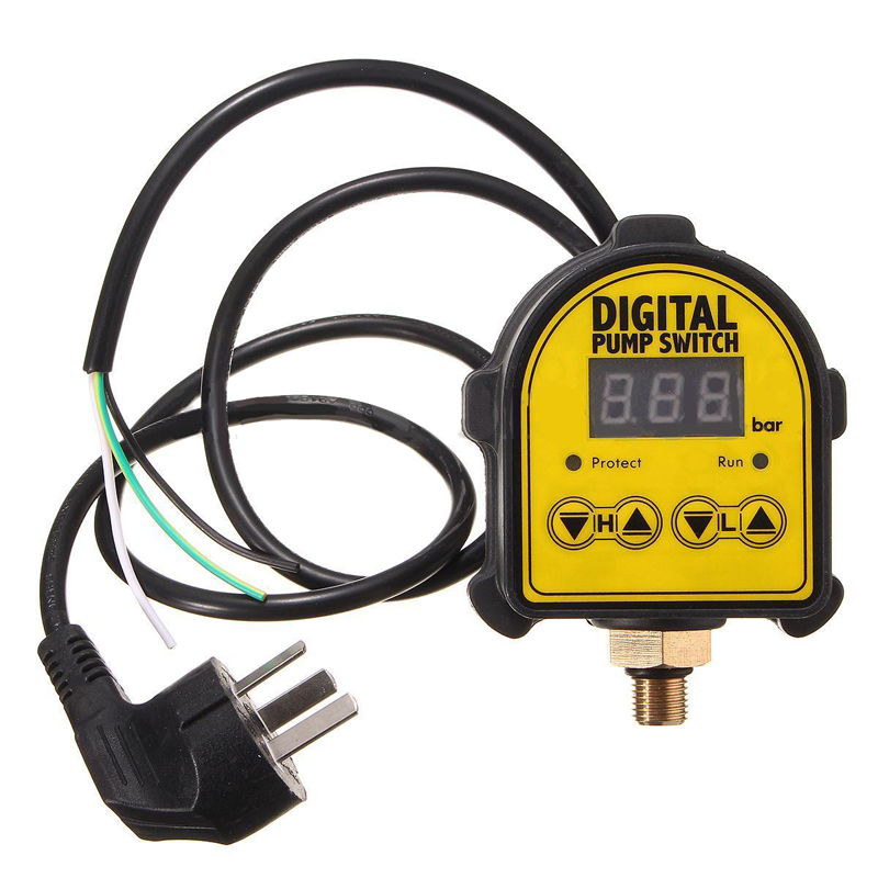 Digital Automatic Air Pump Water Oil Compressor Pressure Switch Controller Digital Display Eletronic Compressor Switch Mayitr oil free air compressor high pressure gas pump spray woodworking air compressor small pump 800 30l