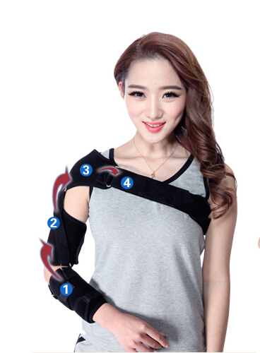 fixed Stroke hemiplegia rehabilitation Shoulder subluxation Dislocation protection brace upper lower limbs physiotherapy rehabilitation exercise therapy bike for serious hemiplegia apoplexy stroke patient lying in bed
