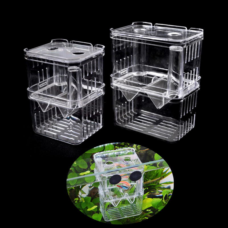 Multifunctional Fish Breeding Isolation Box Incubator Breeder for Fish Tank Aquarium Accessory 2 Size ...