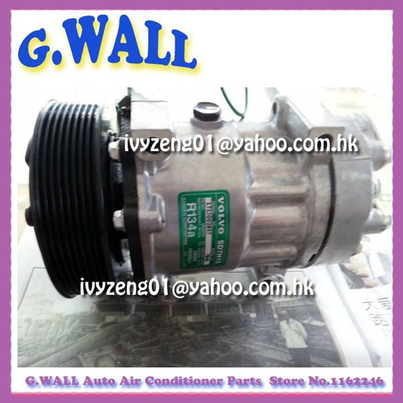 Tout nouveau compresseur SD7H15 AC pour voiture VOLVO camion compresseur d'air 24 V R134A