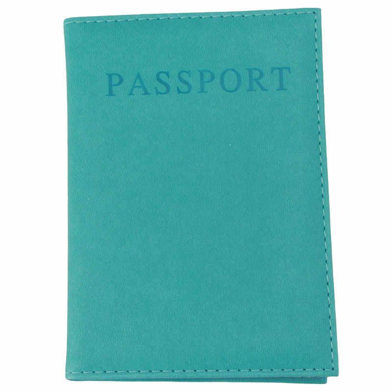 Moda Faux Deri Seyahat Pasaport Tutucu Kapak KIMLIK kart çantası pasaport cüzdanı Koruyucu Kılıf saklama çantası