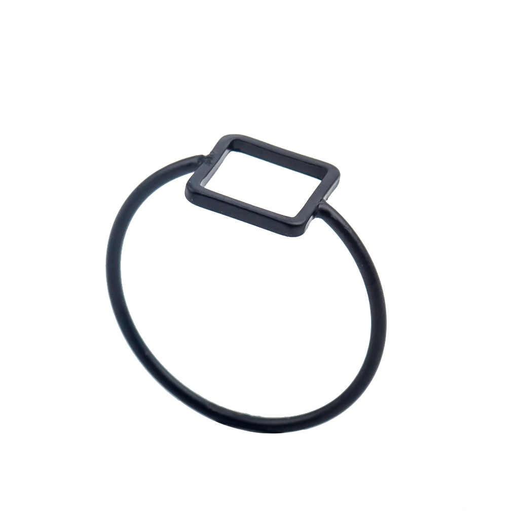 โลหะผสมแหวนเงิน Charms Rose Gold แหวนแหวน Minimalist เครื่องประดับ Bague Femme Anillos Mujer