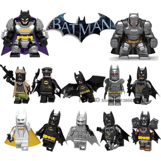 Único cavaleiro escuro batman com asas arma tamanho grande batman filme dc herói blocos de construção brinquedos educativos para crianças