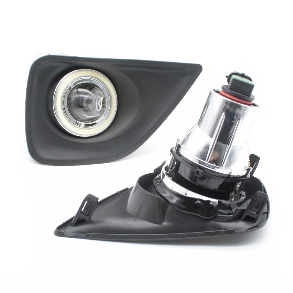 Car Styling For Toyota Mark X COB Angel Eyes DRL Yellow Signal Light H11 Halogen / Xenon E13 Fog Lights with Projector Lens-in Car Light Assembly from Automobiles & Motorcycles    2