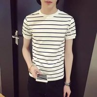 2017 Summer Fashion The Latest Fashion Trend Youth Style Young Men S Striped Short Sleeved T