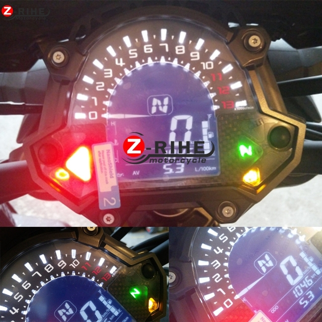For Kawasaki Z900 Z650 Z 900 650 Moto Pad Protector Decals Sticker Engine Tachometer Lens