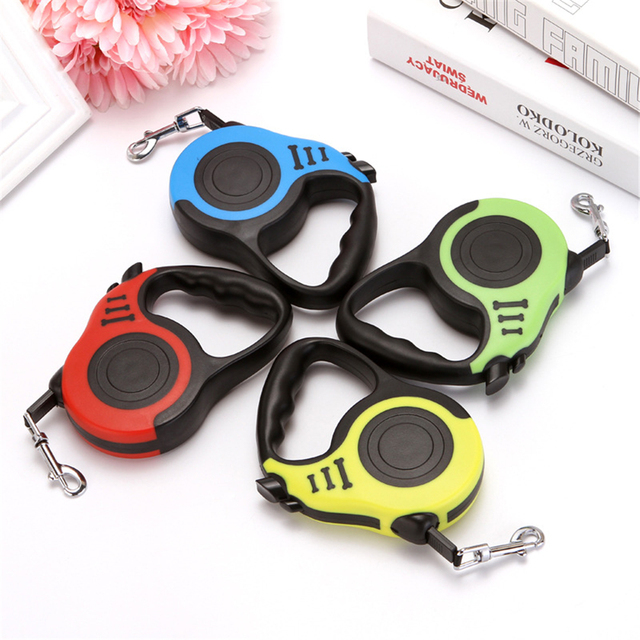 3/5M Automatic Retractable Dog Strap Flexible Dog Puppy Cat Traction Rope Extending Dog Leash for Small Medium Dog Pet Products