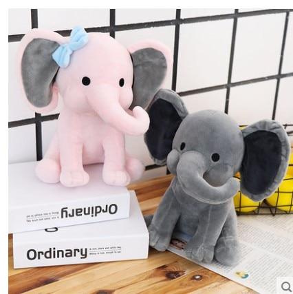 1pc Cartoon  Plush Elephant Toy Baby Kids  Stuffed Plush  Elephant Doll For Birthday Gift