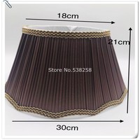 E27 Lampshae for table lamp flower Pattern lace Textile Fabrics Decorative coffee color lampshade