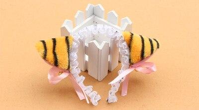 Для взрослых и детей, для костюмированной вечеринки; цвет черный, белый, розовый; кошка neko Ушная повязка на голову в виде животного с колокольчиком горничная Лолита кружевной ободок вечерние украшения - Цвет: tiger