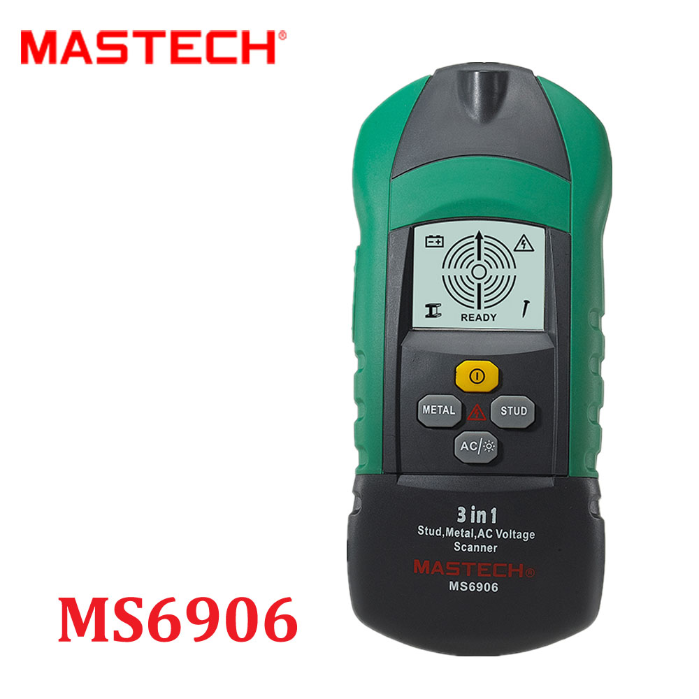 MASTECH MS6906 3 in 1 Multi-function Stud Metal AC Voltage Scanner Detector Tester Thickness Gauge w/ NCV Tester + Wood detector  цены