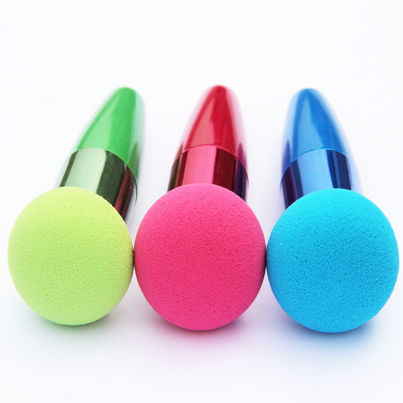MOONBIFFY  Women Cosmetic Liquid Cream Foundation Concealer Sponge Lollipop Makeup Brushes