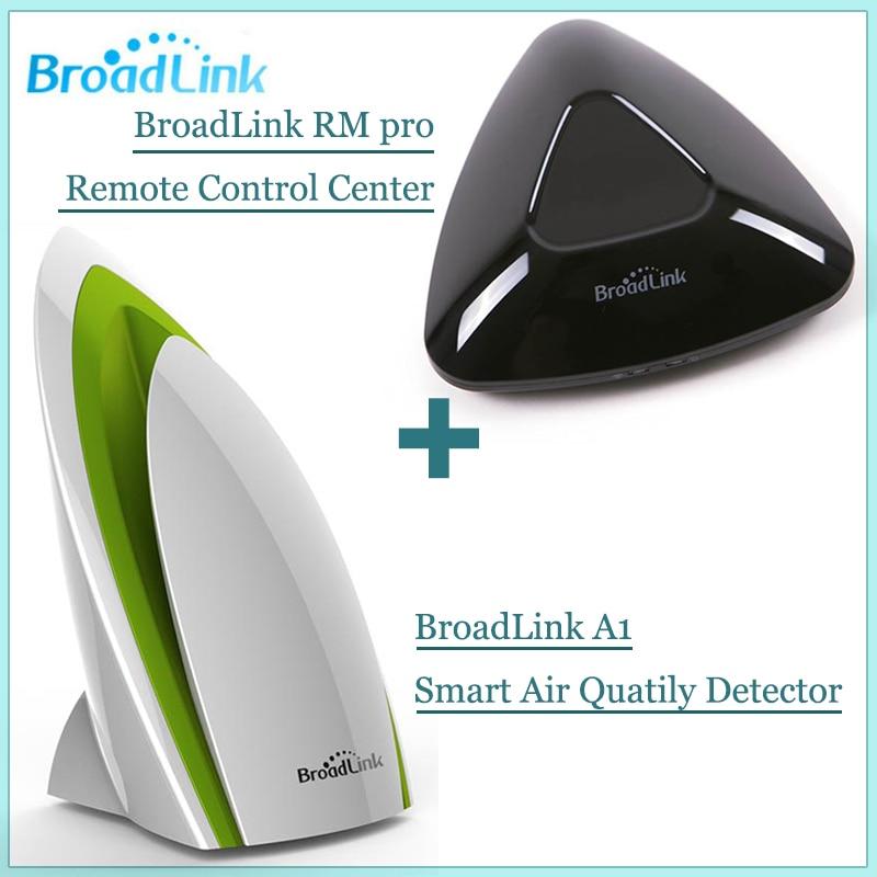 imágenes para Broadlink rm pro contol remoto ir + rf + a1 inteligente detector de calidad del aire del sensor, sistema domótico inteligente para ios android