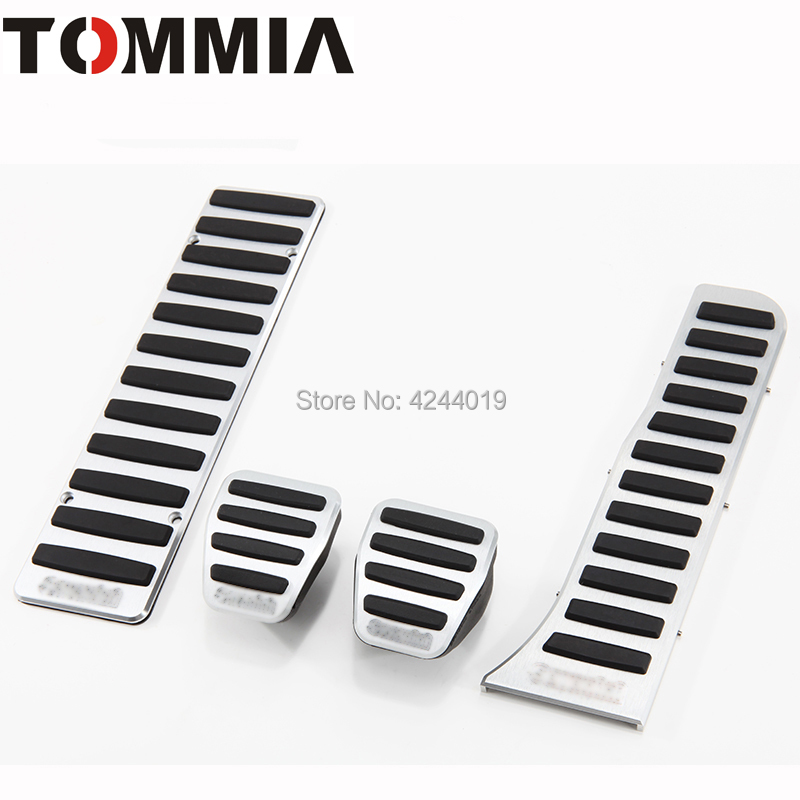 TOMMIA For VW Volkswagen Passat Scirocco CC Golf GTI Tiguan Touran Car Pedal Footrest Brake And Gas Pedal Pad Alumimum Alloy