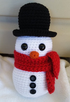 Snowman Stuffed Animal Crochet Plush  Home Decor  Christmas Decoration Snowman Rattles Toy