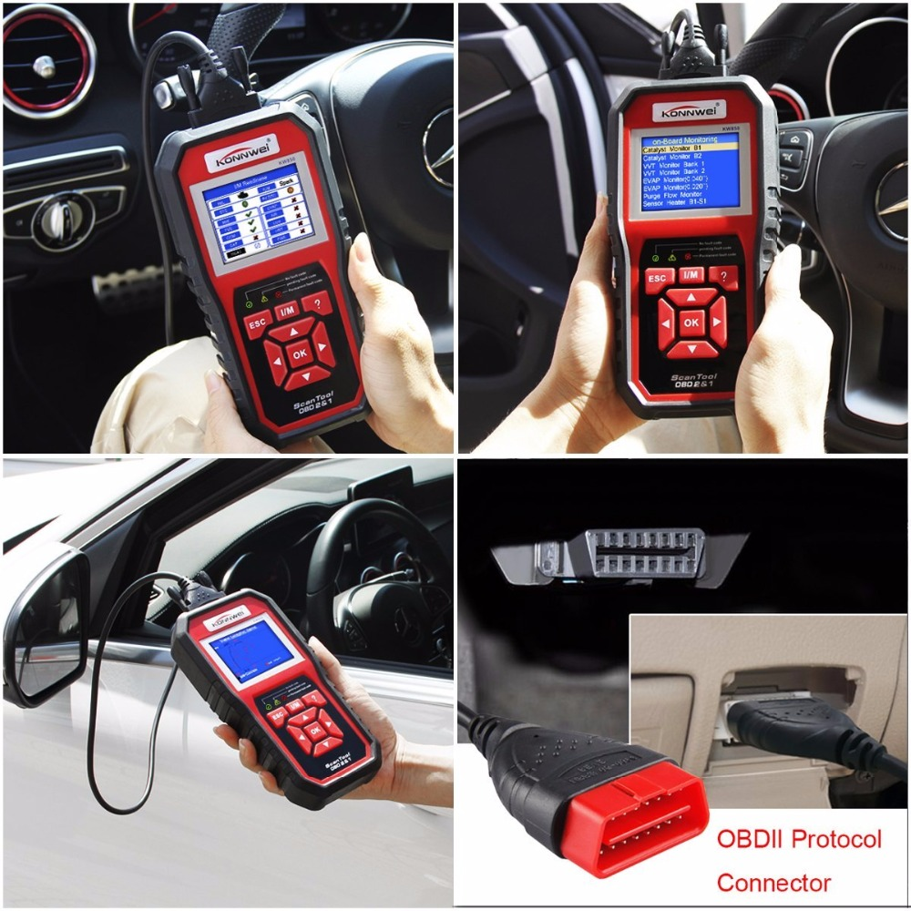 Best OBD 2 Automotive Scaner KONNWEI KW850 Multi-languages OBD2 Scanner Auto Scanner in Portuguese ODB2 Diagnostic Car Scan Tool
