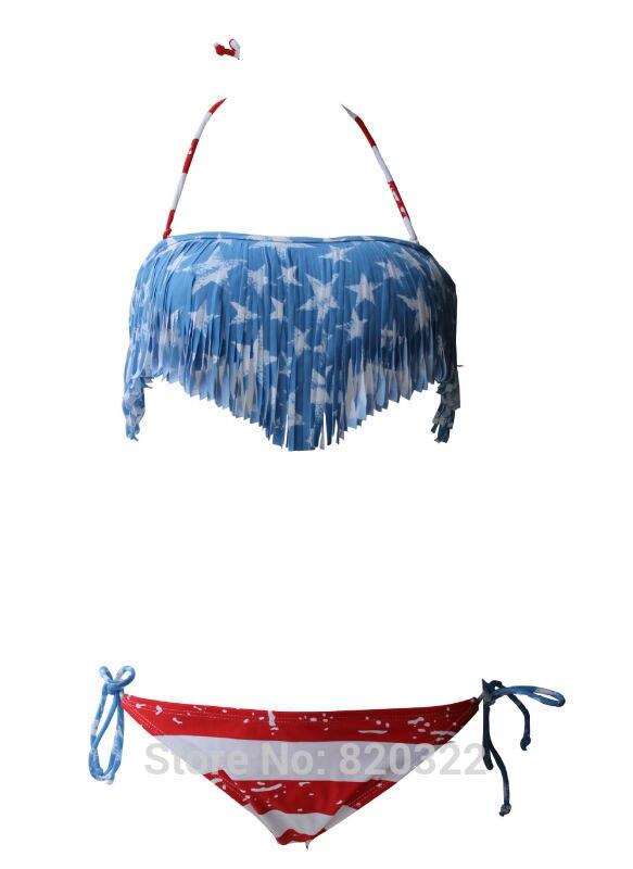 online kaufen gro handel regenbogen fringe bikini aus. Black Bedroom Furniture Sets. Home Design Ideas
