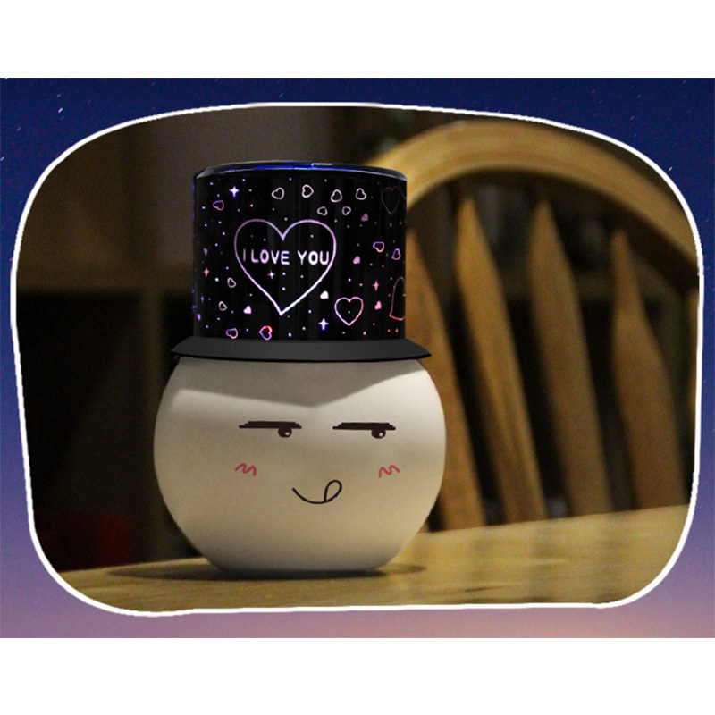 New Creative LED lamp bedroom table light USB power supply snowman style night light for indoor Lighting Decor
