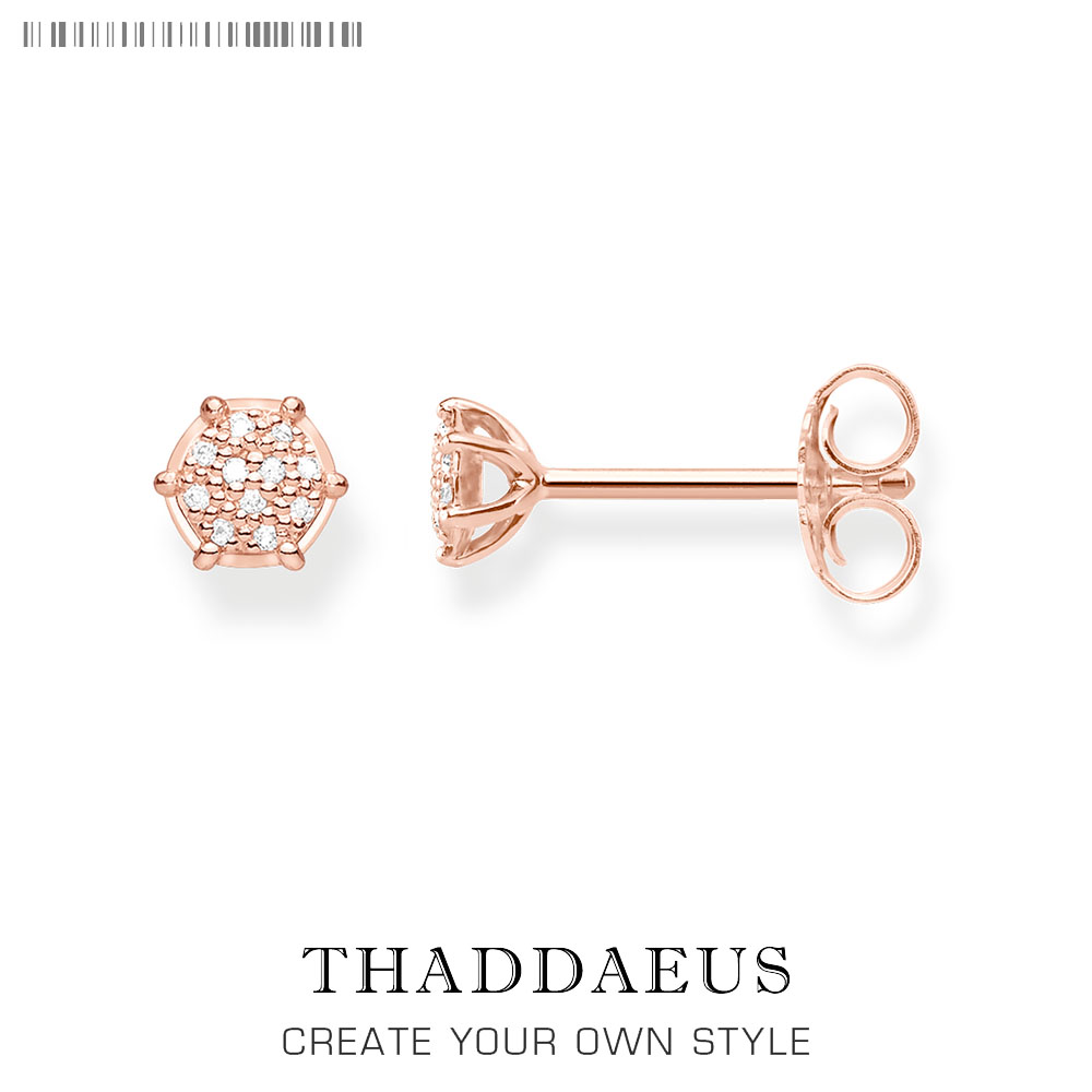 Rose Gold Round Stud Earrings,Thomas Style Glam Fashion Good Jewerly For Women,2018 Ts Gift In 925 Sterling Silver,Super Deals